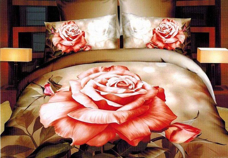 Комплект белья МарТекс Селена, 2-спальный, наволочки 70х70. 01-1301-201-1301-2