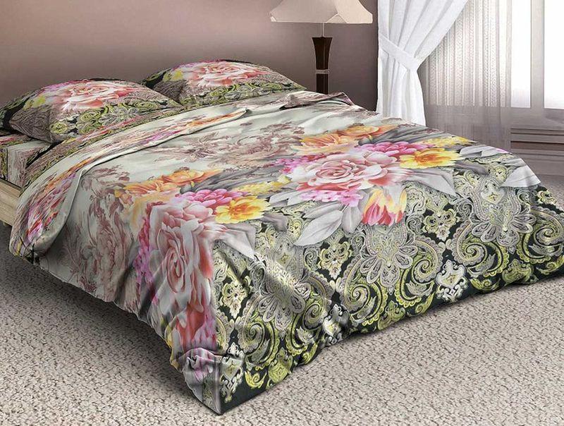 Комплект белья МарТекс Ауро, 1,5-спальный, наволочки 70х70. 01-1323-101-1323-1