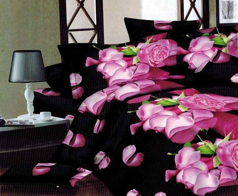 Комплект белья МарТекс Иллюзия, 1,5-спальный, наволочки 70х70. 01-1356-101-1356-1