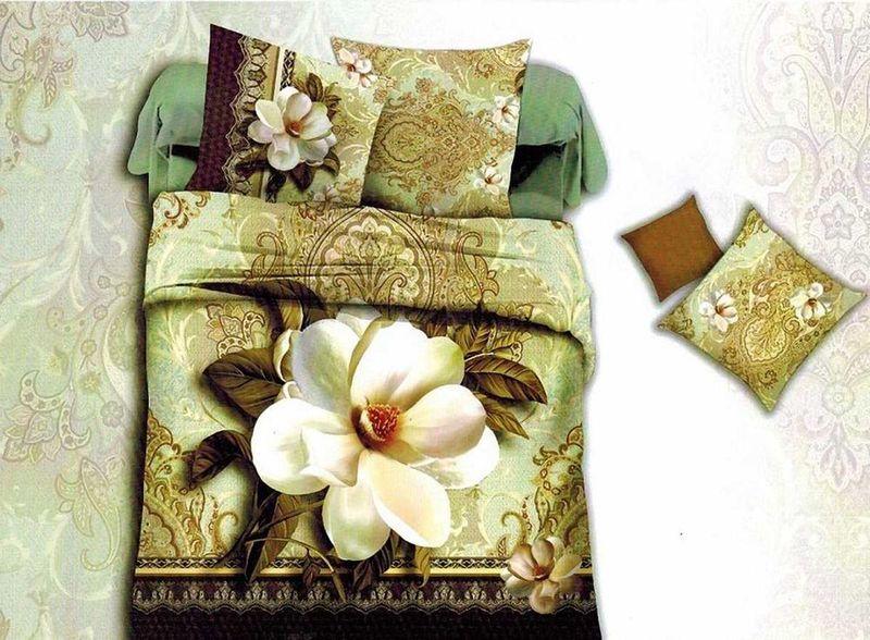 Комплект белья МарТекс Визит, 1,5-спальный, наволочки 70х70. 01-1359-101-1359-1