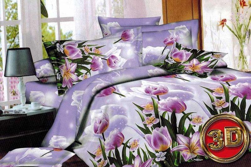 Комплект белья МарТекс Cимона, 2-спальный, наволочки 70х70. 01-1364-201-1364-2