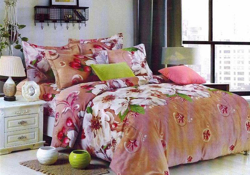 Комплект белья МарТекс Леван, 1,5-спальный, наволочки 70х70. 01-1368-101-1368-1