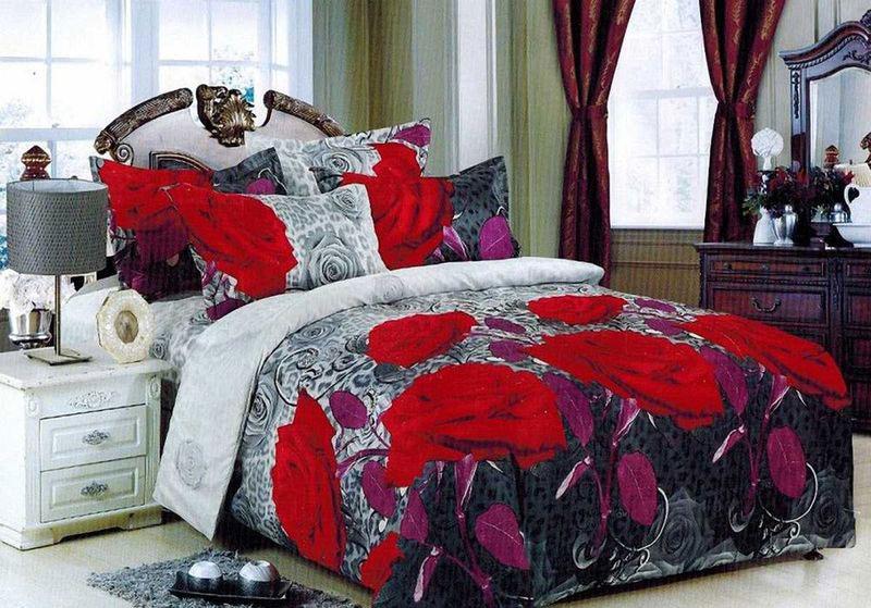 Комплект белья МарТекс Двина, 1,5-спальный, наволочки 70х70. 01-1386-101-1386-1
