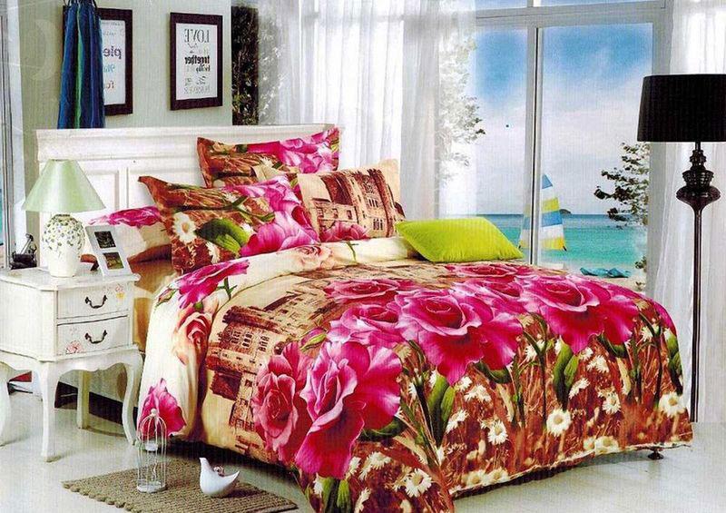 Комплект белья МарТекс Донна, 1,5-спальный, наволочки 70х70. 01-1389-101-1389-1