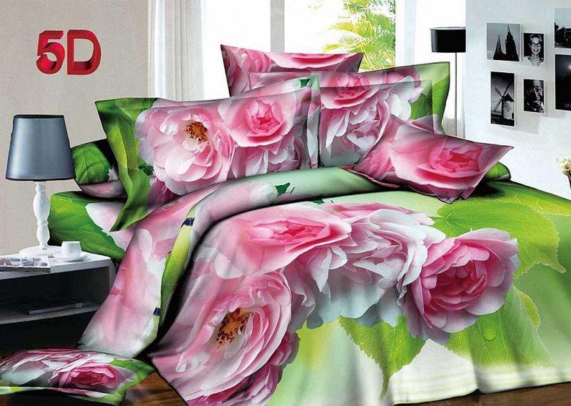Комплект белья МарТекс, 1,5-спальный, наволочки 70х70. 01-1401-101-1401-1