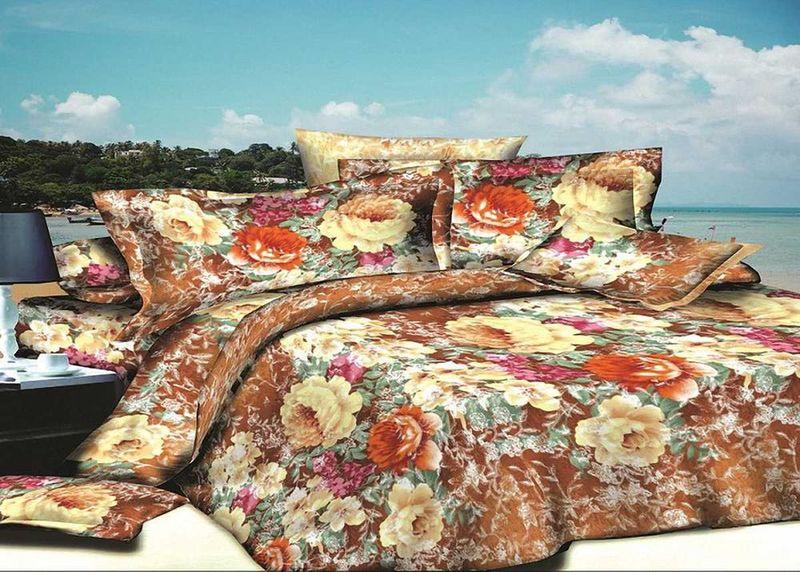 Комплект белья МарТекс, 1,5-спальный, наволочки 70х70. 01-1404-101-1404-1