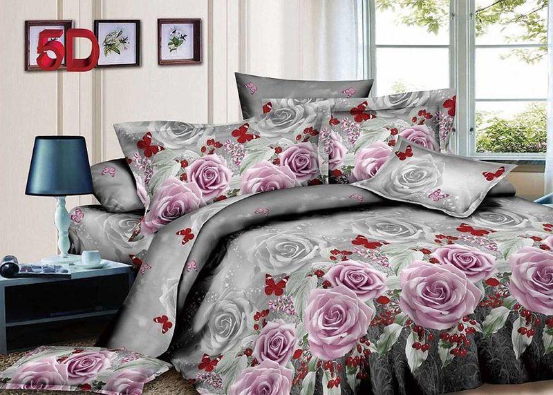 Комплект белья МарТекс, 1,5-спальный, наволочки 50х70. 01-1416-101-1416-1