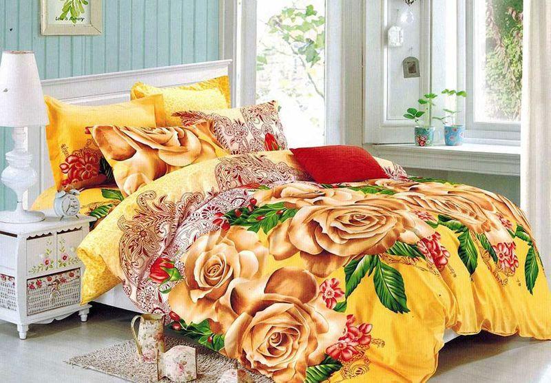 Комплект белья МарТекс, 1,5-спальный, наволочки 70х70. 01-1495-101-1495-1