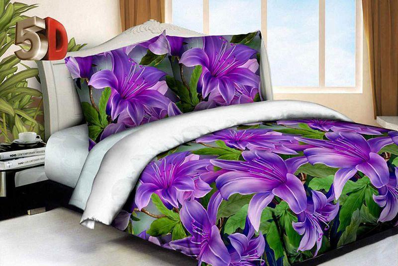 Комплект белья МарТекс Ночь нежна, 2-спальный, наволочки 70х70. 01-1539-201-1539-2