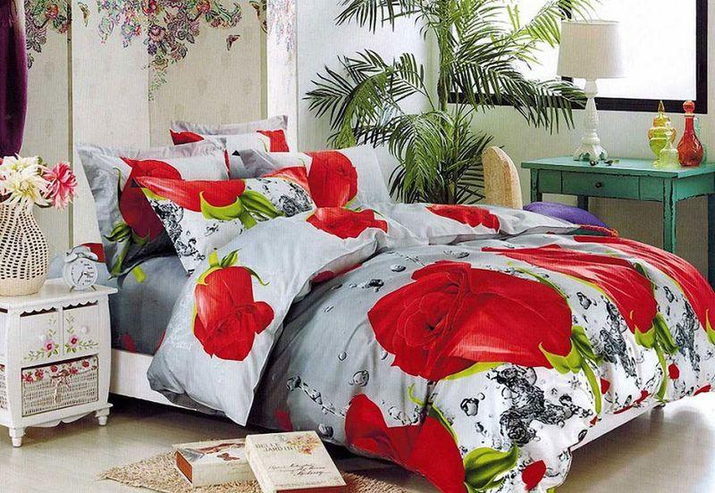 Комплект белья МарТекс, 1,5-спальный, наволочки 70х70. 01-1562-101-1562-1