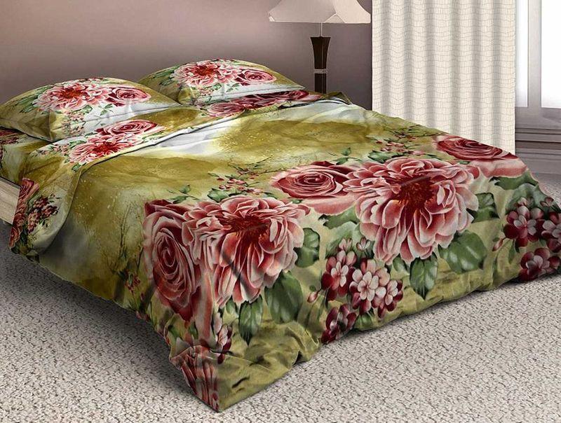 Комплект белья МарТекс Чайная роза, евро, наволочки 50х70, 70х70. 01-1572-301-1572-3