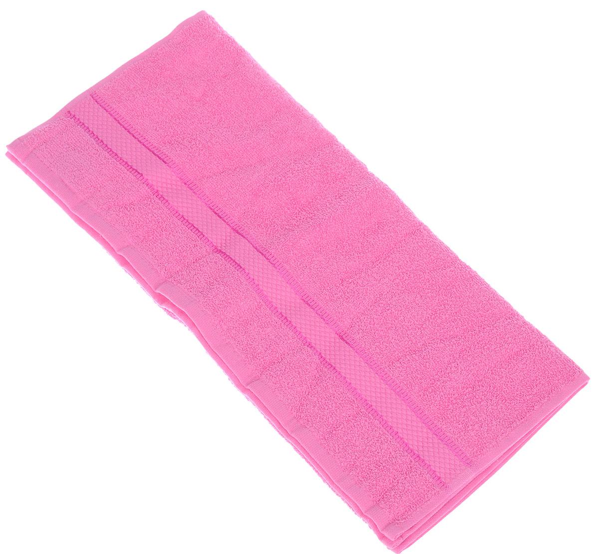 Полотенце Brielle Basic, цвет: фуксия, 50 х 85 см1209Полотенца ТАС Приятно удивляют и дают возможность почувствовать себя творцом окружающего декора. Махровая ткань – официальное название «фроте», народное – «махра». Фроте – это натуральная ткань, поверхность которой состоит из ворса (петель основных нитей). Ворс может быть как одинарным (односторонним), так и двойным (двусторонним).