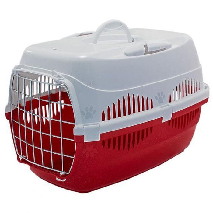 Переноска для животных ZooM. Спутник, с металлической дверцей, до 12 кг, 33 х 49 х 32 см, цвет: красный, белыйRP4092красн/белОтличный образец изделия предназначенного для транспортировки животных, сочетающего в себе функциональность удобство и яркий дизайн. Переноска оснащена прорезями для автомобильного ремня, чтобы питомец, был в полной безопасности, путешествуя со своим хозяином. Конструкция усиленная, с 7 крепежами, выдерживает до 12 кг и обеспечивает надежность переноски, которая сослужит долгую службу. Модель предполагает широкий выбор расцветок.