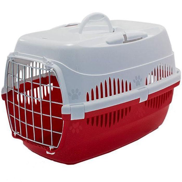 Переноска для животных ZooM. Спутник, с металлической дверцей, с наплечным ремнем, до 12 кг, 33 х 49 х 32 см, цвет: красный, белыйRP4093красн/белОтличный образец изделия предназначенного для транспортировки животных, сочетающего в себе функциональность удобство и яркий дизайн. Переноска оснащена прорезями для автомобильного ремня, чтобы питомец, был в полной безопасности, путешествуя со своим хозяином. Конструкция усиленная, с 7 крепежами, выдерживает до 12 кг и обеспечивает надежность переноски, которая сослужит долгую службу. Модель предполагает широкий выбор расцветок.