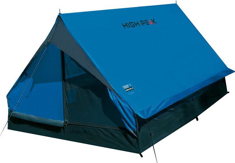 Палатка High Peak Minipack, цвет: синий, серый, 190 х 120 х 95 см. 1015510155Проверенная сотнями походов двухскатная палатка Minipack High Peak на вертикальных стальных стойках. Достаточно компактная и легкая, она позволит останавливаться на ночевки в одно- или двухдневных походах. Один выход может расстегиваться на две равные половины. Если становится жарко, достаточно раскрыть пологи входа и оставить москитную сетку на входе для хорошей вентиляции. Материал тента имеет полиуретановое покрытие и водонепроницаемость не менее 1500 мм водяного столба. Это защитит вас от несильного дождя. Швы проклеены. За счет вертикальных стенок в основании палатки Minipack располагает приличным внутренним объемом. Дуги: Сталь 16 мм Тент: Полиэстер 190Т 1500 мм, швы проклеены Дно: Армированный полиэтилен (3000 мм)