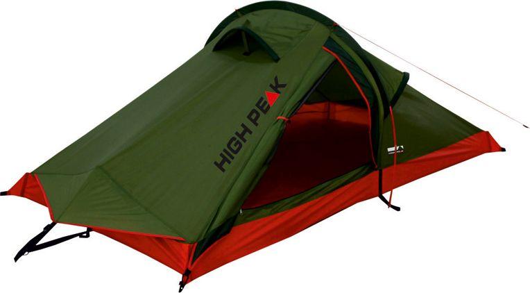 Палатка High Peak Siskin, цвет: зеленый, красный, 230 х 120 х 90 см. 1018310183Легкая и компактная палатка Siskin High Peak отлично подойдет для легкоходов и велосипедистов. Палатка проста в установке, фиберглассовая дуга продевается в рукав на внешнем тенте, что позволяет устанавливать палатку даже дождь. Материал тента имеет полиуретановое покрытие и водонепроницаемость не менее 3000 мм водяного столба. Это защищает от сильного ветра и дождя. Все швы проклеены термоусадочной лентой, гарантирующей, что влага не проникнет сквозь них. Вентиляционное окно со стороны торца и два вентиляционных окна в верхней точке палатки позволяют неплохо проветривать палатку даже при полностью застегнутом боковом входе. В жаркую погоду можно открыть тканевый полог входа и закрыть вход москитной сеткой для лучшей вентиляции. Палатка имеет 4 оттяжки, что позволяет надежно ее фиксировать во время ветреной погоды. Дуги: Фибергласс 7,9 мм Тент: Полиэстер 3000 мм Дно: Полиэстер 3000 мм