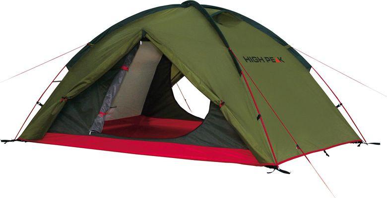"""Палатка High Peak """"Woodpecker 3"""", цвет: зеленый, красный, 340 х 190 х 220 см. 10194"""