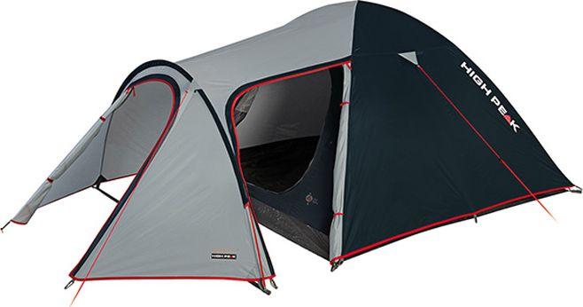 Палатка High Peak Kira 4, цвет: светло-серый, темно-серый, 340 х 240 х 130 см. 1021510215Это, пожалуй, самая комфортная палатка для путешествий с большим количеством снаряжения или велосипедами. Отлично подойдет для семейного отдыха, сплавов и даже на замену кемпинговой палатке. Выносная дуга формирует обширный тамбур для любого снаряжения, в том числе и кухни. Просторная спальня в пять квадратных метров комфортна для целой семьи. Палатка легко устанавливается за 5-7 минут. Сначала устанавливается внутренняя палатка из паропроницаемого материала. Если погода жаркая, и дождя не предвидится, то можно спать без внешнего тента. Если надо защититься от ветра и дождя, накиньте внешний тент и проденьте третью дугу в рукав тента. Материал тента имеет полиуретановое покрытие и водонепроницаемость не менее 3000 мм водяного столба. Это позволяет защититься от сильного ветра и дождя. Все швы проклеены термоусадочной лентой, гарантировано защищающей от проникновения влаги сквозь швы. При фиксации всех пяти оттяжек палатка имеет высокую ветроустойчивость. Окно для лучшей вентиляции...