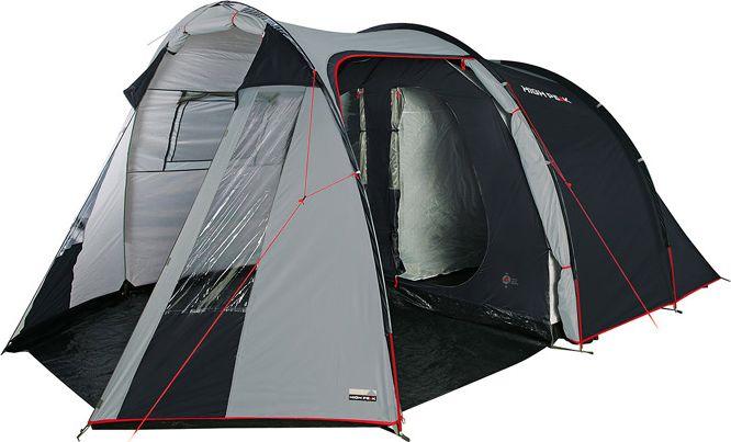 Палатка High Peak Ancona 5, цвет: серый, 250/210 х 120/180 х 465 см. 1024610246Кемпинговая пятиместная палатка, с разделяемым спальным отсеком. Москитная сетка на входе в спальное отделение, проклеенные швы тента, вентиляционный клапан. Большой тамбур позволит комфортно разместить бивуачное снаряжение и продукты. Большой тамбур и наличие двух входов позволяет использовать палатку Ancona High Peak как в базовом лагере, так и для семейного отдыха на природе. Внутренняя палатка имеет съемный разделитель, что позволяет организовать пространство под вашу семью. На входе во внутреннюю палатку окно с москитной сеткой. Имеется держатель для фонарика, внутренние карманы. Дуги: Фибергласс 11 мм Тент: Полиэстер 190Т 3000 мм Дно: Армированный полиэтилен