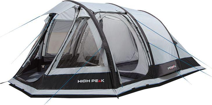 Палатка High Peak Aeros 3.0, цвет: серый, 220/220 х 200 х 450 см. 1225412254Легкая компактная палатка с надувным каркасом и пришитым дном. Установка палатки занимает 5-7 минут, в комплекте идет насос. Внешний каркас выполнен из прочного полиэстра 150D Hypertex Polyester PU, дуги из 16 мм стали. Пришитое дно препятствует проникновению внутрь палатки нежелательных насекомых, песка и мелких камней. Палатка имеет две входа с москитной сеткой. В тамбуре имеются прозрачные окна из ПВХ с занавесками. Уникальная система вентиляции Dual Flow Vent System обеспечивает циркуляцию воздуха по всей палатке. 5 лет гарантии Дуги: Сталь 16 мм Тент: Полиэстер 150D Hepertex Polyester PU 5000 мм Дно: Армированный полиэтилен