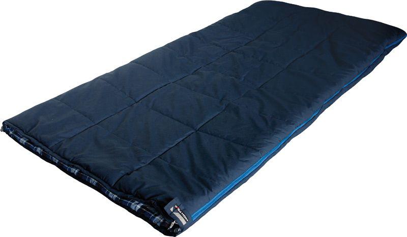 Спальный мешок-одеяло High Peak Celtic, цвет: темно-синий, 200 х 100 см, левосторонняя молния. 2122321223Спальный мешок Celtic High Peak - это классическая модель спальника-одеяла увеличенной ширины. Спальник Celtic High Peak просторный и очень комфортный. Если расстегнуть молнию, то получится огромное одеяло размером 200х200 см. Внутренняя ткань спального мешка выполнена из 100% хлопковой фланели, это очень мягкая и теплая ткань. Вдоль молнии идет защита от закусывания замком молнии ткани спальника. Чтобы холодный воздух не проникал сквозь молнию, ее закрывает тепловой клапан. В верхней части молния фиксируется клапаном на липучке Velcro. На молнии два бегунка, которые позволяют расстегнуть спальник со стороны ног и сделать вентиляционное окно. Спальник утеплен слоем силиконизированного утеплителя Dura Loft, смешанного с холлофайбером в соотношении 70%/30% Верх 2х150 (300) г/м2 + Низ 2х150 (300) г/м2. В комплекте со спальником идет транспортировочный чехол. Внешняя ткань 80% полиэстер / 20% хлопок Внутренняя ткань 100% хлопковая фланель Утеплитель Dura Loft + Hollowfiber...