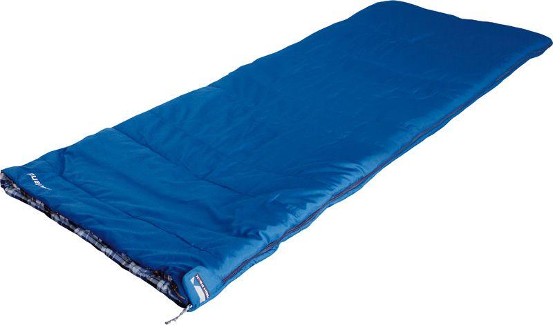 Спальный мешок-одеяло High Peak Lowland, цвет: синий, 200 х 80 см, левосторонняя молния. 2123021230Классический спальник одеяло Lowland High Peak идеально подойдет для летних семейных путешествий. Если расстегнуть боковую молнию, то получится большое одеяло 160х200 см. Внутренняя ткань спальника выполнена из 100% хлопковой фланели, мягкой и шелковистой. Ткань приятна к телу и хорошо испаряет влагу. Вдоль молнии идет защита от закусывания замком молнии ткани спальника. Чтобы холодный воздух не проникал сквозь молнию, ее закрывает тепловой клапан. В верхней части молния фиксируется клапаном на липучке Velcro. На молнии два бегунка, которые позволяют расстегнуть спальник со стороны ног и сделать вентиляционное окно. Спальник Lowland High Peak утеплен слоем силиконизированного утеплителя Dura Loft, смешанного с холлофайбером в соотношении 70%/30% Верх 1х200 г/м2 + Низ 1х200 г/м2. В комплекте со спальником идет транспортировочный чехол. Внешняя ткань Шелковистый полиэстер (Silk polyester) 190T Внутренняя ткань 100% хлопковая фланель Утеплитель Dura Loft + Hollowfiber 70%/30%...