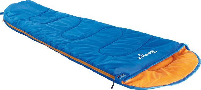 Спальный мешок High Peak Boogie, цвет: синий, оранжевый, 170 х 70/45 см, левосторонняя молния. 2303423034Легкий детский спальный мешок с синтетическим наполнителем в форме кокона. Спальный мешок имеет двухстороннюю молнию с защитой от заедания. Наполнитель Dura Loft + Hollowfiber 70%/30% гарантирует комфортный сон при температуре воздуха +14С. Спальный мешок Boogie оптимально подходит для летних походов и отдыха за городом. Спальник снабжен внутренним карманом, плоским капюшоном и возможностью состегивания с другим спальником. В комплекте со спальником идет компрессионный транспортировочный чехол. Внешняя ткань Полиэстер (с набивкой рипстоп) (Polyester) 185T Внутренняя ткань Дышащий полиэстер Polyester 185T Утеплитель Dura Loft + Hollowfiber 70%/30% Верх 1х200 г/м2 + Низ 1х200 г/м2