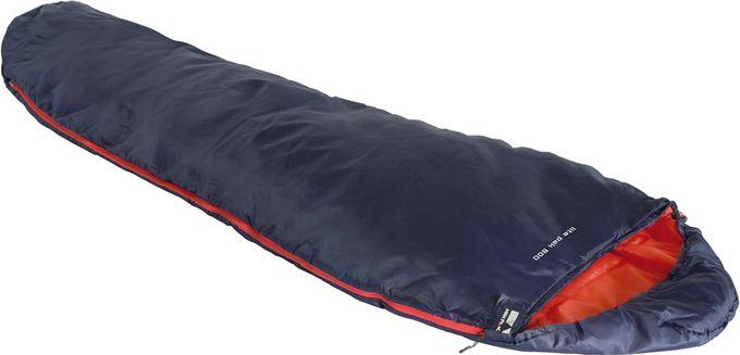 Спальный мешок High Peak Lite Pak 800, цвет: синий, оранжевый, 210 х 75 х 50 см, левосторонняя молния. 2327123271Сверхлегкий и компактный спальник для легкоходов, предназначенный для летних путешествий. Спальник подойдет для людей ростом не более 179 см. Спальник имеет полноценный капюшон, защищающий вашу голову в прохладную ночь. В верхней части молния фиксируется клапаном на липучке Velcro. На молнии два бегунка, которые позволяют расстегнуть спальник со стороны ног и сделать вентиляционное окно. Спальник утеплен высокоэффективным полым волокном DuraLoft с силиконовым покрытием волокон. Плотность утеплителя равна 150 грамм на кв. метр с обеих сторон спальника. В комплекте со спальником идет транспортировочный чехол. Объем чехла 5,2 л. Внешняя ткань Полиэстер (Polyester) 185T Внутренняя ткань Полиэстер (Polyester) 185T Утеплитель Dura Loft 150 (1х150) г/м2