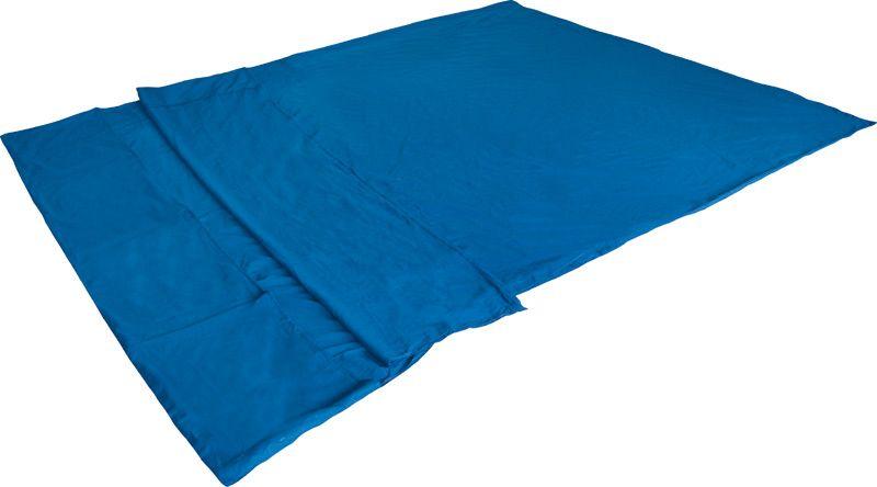 Вставка в спальный мешок High Peak Cotton Inlett Double, цвет: синий, 225 х 180 см. 2350823508Вкладыш в двухспальный спальник-одеяло. 100% хлопок приятен к телу. Вкладыш легко стирается. 100% хлопок, мешок для хранения: синтетический материал