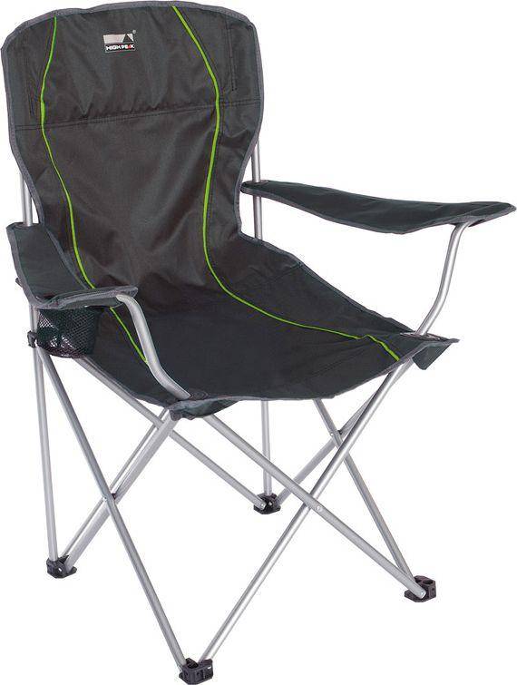 """Кресло складное High Peak """"Salou"""", цвет: темно-серый, 54 х 43,5 х 41/93 см, 100 кг. 44107"""