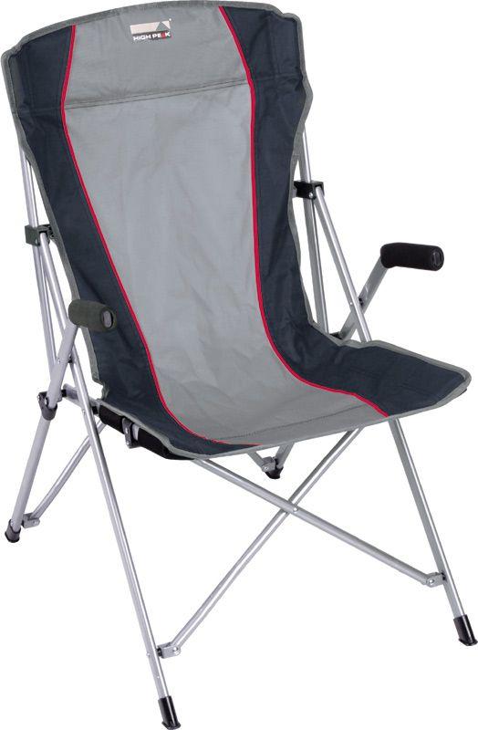 Кресло складное High Peak Campingstuhl Altea, цвет: серый, темно-серый, 56 х 44 х 46/95 см, 120 кг. 4411144111Просторное и очень удобное кресло для кемпингового отдыха. Надежная рама изготовлена из стального профиля 25х16 мм с порошковым покрытием., спинка-сиденье из прочного материала полиэстер 600D. Кресло легко собирается и занимает мало места в багаже. В комплекте практичный транпортировочный чехол. Максимально допустимая статическая нагрузка 100 кг. Материал: полиэстер 600D; сталь 25/16мм