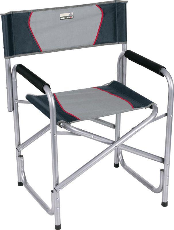 Кресло складное High Peak Campingstuhl Cadiz, цвет: серый, темно-серый, 58 х 48 х 44/78 см, 100 кг. 4413144131Надежное, устойчивое директорское кресло с мягкими подлокотниками. Надежная рама изготовлена из стальной трубки 25мм с порошковым покрытием, сидение и спинка из прочного материала полиэстер 600D. Максимальная нагрузка 100кг. Материал: полиэстер 600D; сталь 25мм