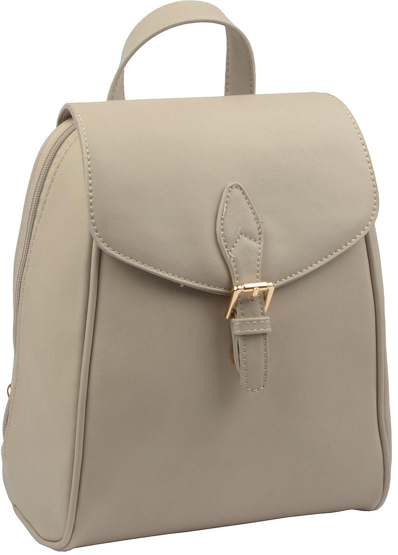 Рюкзак женский David Jones, цвет: серый. СМ3371СМ3371 GREYВысота ручки: 10 . Рюкзак. Одно отделение, два карман (один на молнии), внешний карман на задней стенке (на молнии).