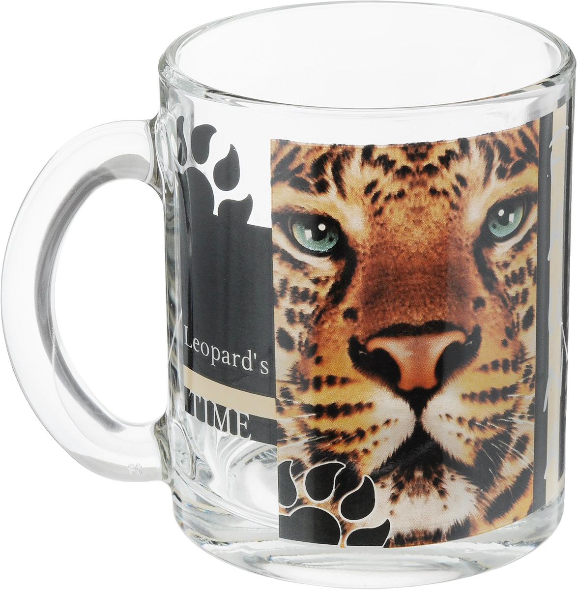 Кружка OSZ Дикие кошки. Леопард, 320 мл04C1208-DKK_Леопард