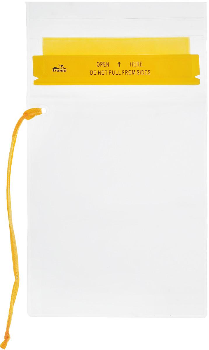 Гермопакет Tramp, цвет: желтый, 18 х 25 смTRA-024Плоский гермопакет Tramp предназначен для защиты документов, мобильного телефона и прочих важных мелочей от влаги. Незаменим в походах или экспедициях различной сложности. Размер: 18 x 25 см.