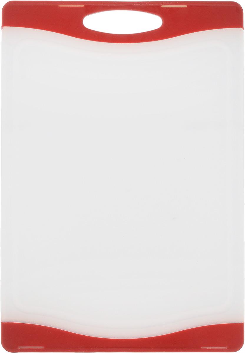 """Доска разделочная """"Zeller"""", цвет: белый, красный, 29,3 х 20 х 1 см"""
