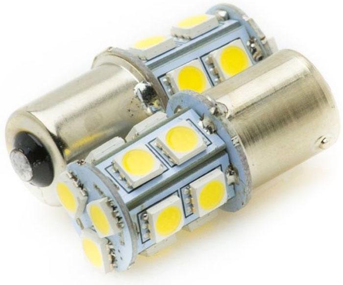 Автолампа светодиодная Jpower, 2 шт. 1156-13SMD-50501156-13SMD-5050Надежная 1-контактная светодиодная лампа в блистере с 13 яркими светодиодами. Свет белый 5000К. В упаковке 2 шт.