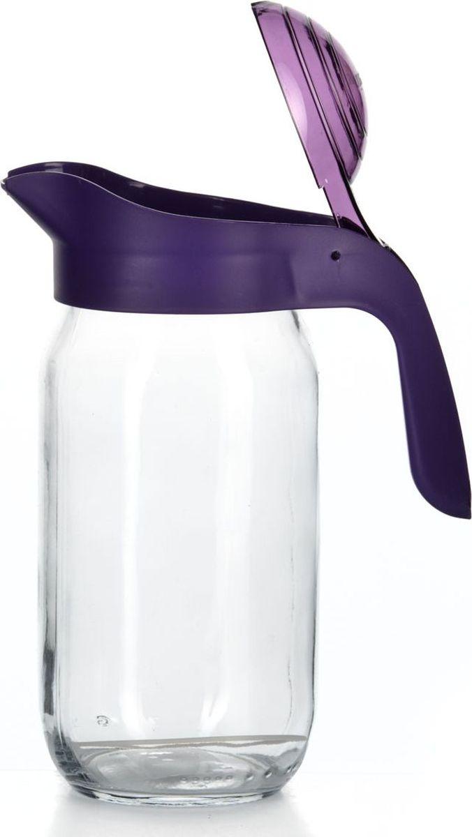Кувшин Pasabahce, цвет: сиреневый, 1 л. 111271-003111271-003Кувшин прозрачный с сиреневой крышкой и ручкой V= 1 л, 85*155*205 мм