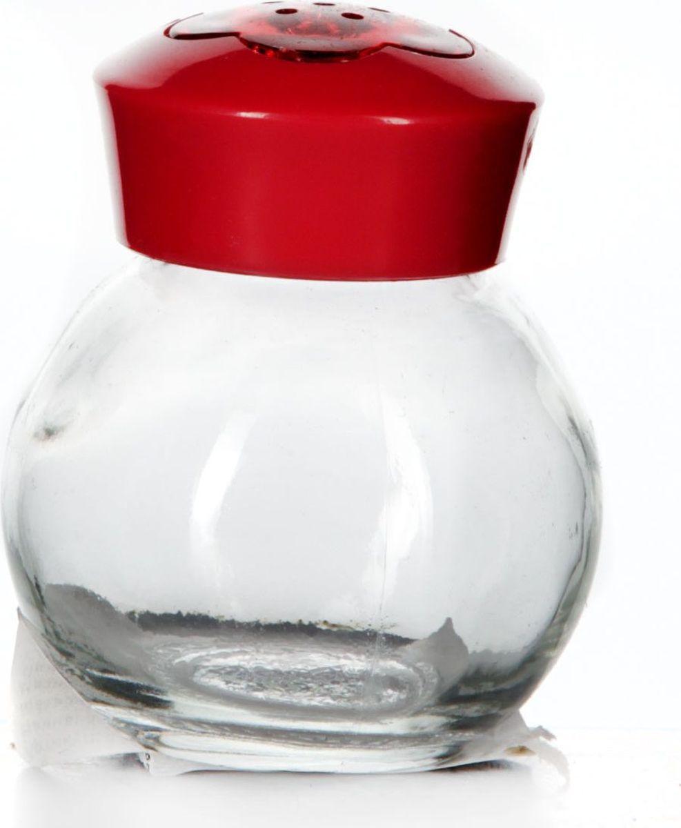 Солонка Pasabahce, 60 мл. 121055-000121055-000Солонка прозрачная с красной крышкой, V= 60 мл, 55*55*65 мм
