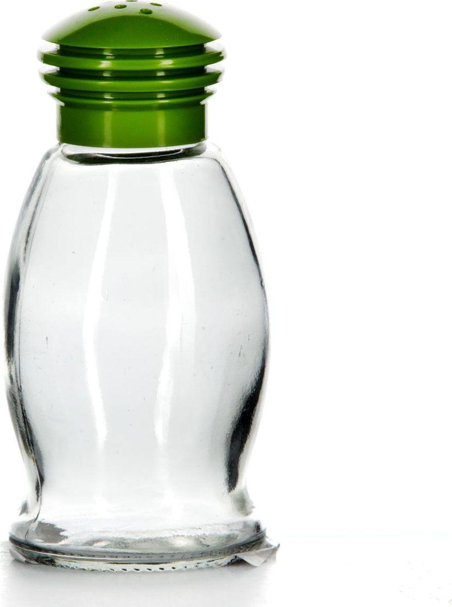 Солонка Pasabahce, 85 мл. 121091-000121091-000Солонка прозрачная с зеленой крышкой, V=85 мл, 53*53*105 мм