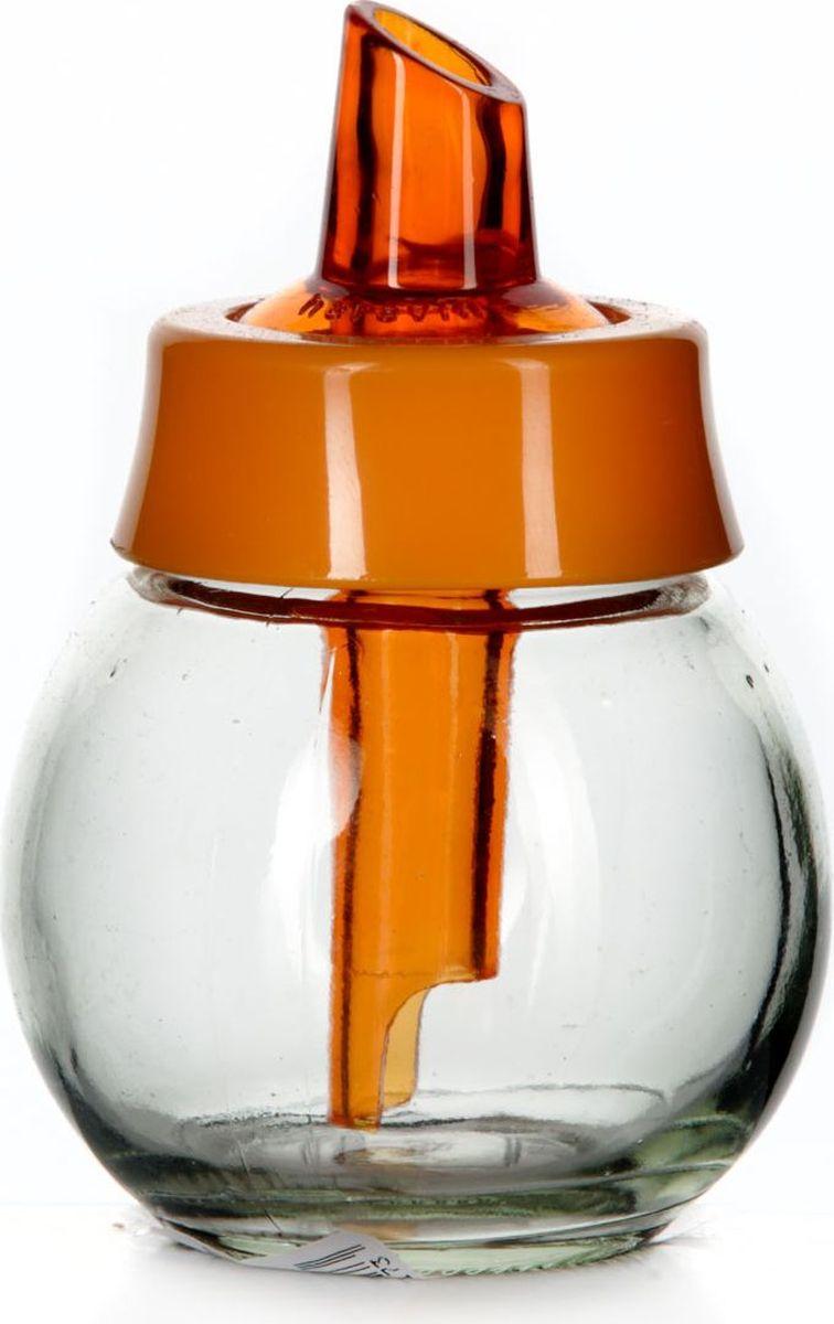 Сахарница Pasabahce, 200 мл. 131661-000131661-000Сахарница с дозатором прозрачная с оранжевой крышкой, V=200 мл, 80*80*110 мм