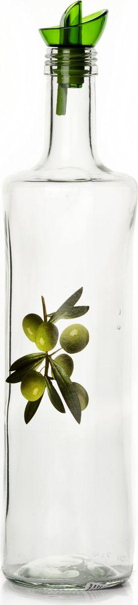 Емкость для жидкости Pasabahce, 750 мл. 151157-000151157-000Бутыль для жидких специй с дозатором V=750 мл, 8*8*33 см, с рис. Оливкии