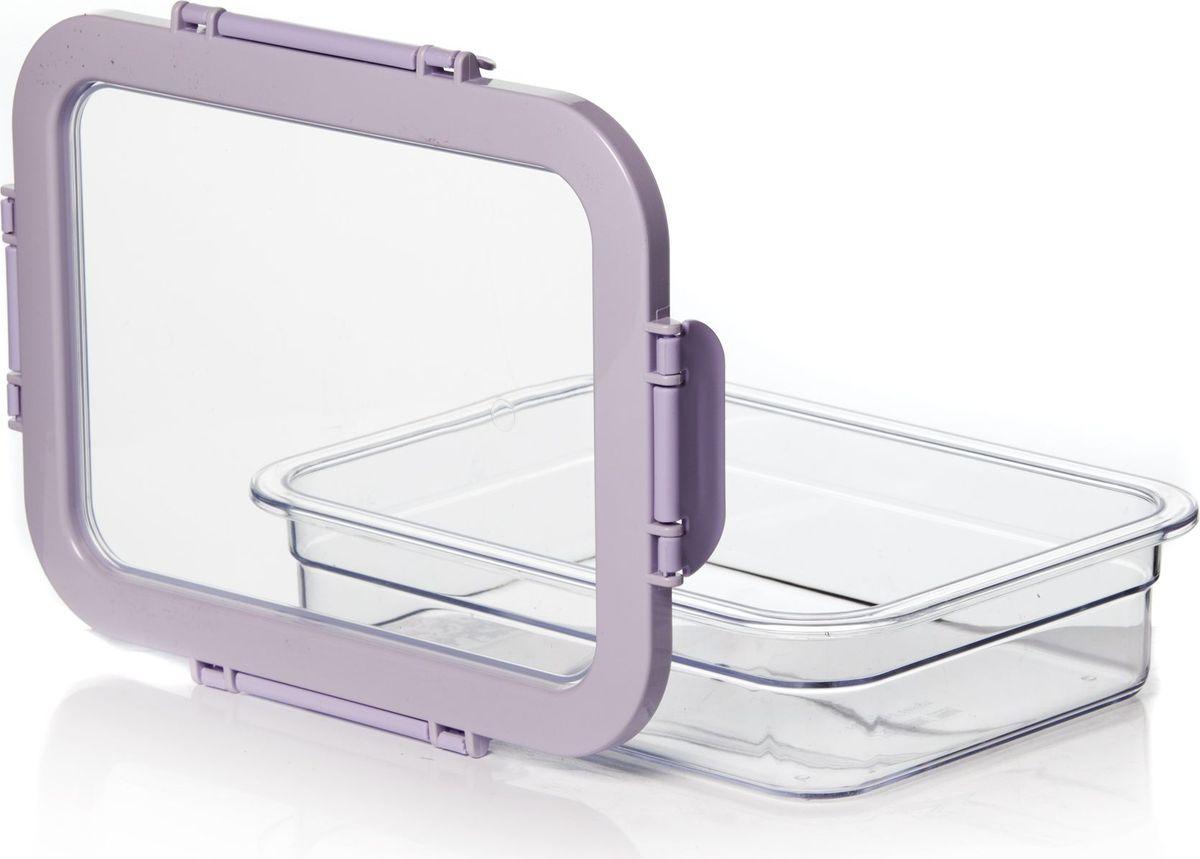 Контейнер для продуктов Pasabahce, 1,3 л. 161421-500161421-500Контейнер пластмас. для хранения продуктов V=1,3 л с защелк.ручками
