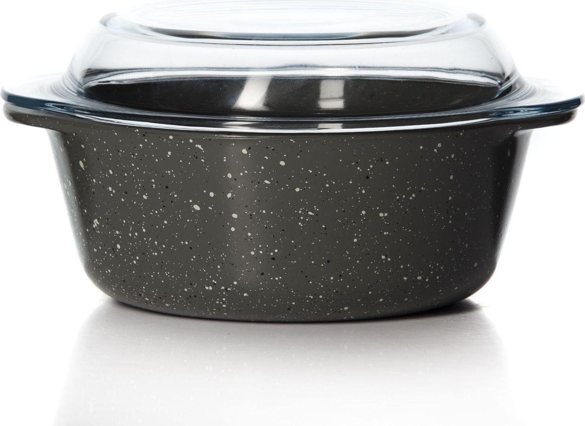 Посуда для СВЧ Pasabahce, с крышкой, 1,5 л. 59023DGR59023DGRПосуда для СВЧ круглая с крышкой 1,5л цветное стекло (1073117)