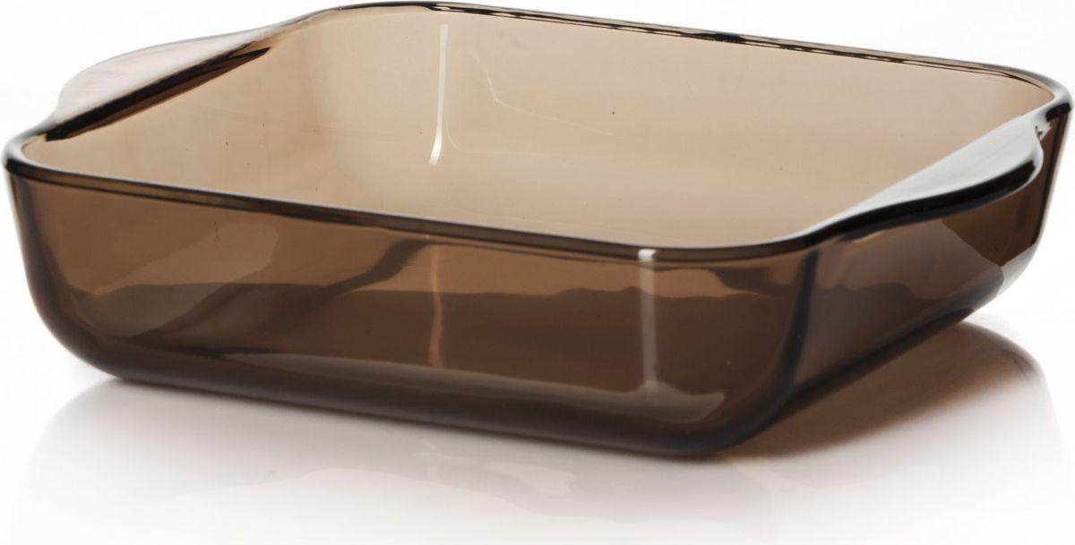 Лоток для СВЧ Pasabahce, цвет: коричневый, 1,95 л. 59034BR59034BRПосуда для СВЧ лоток квадратный б/крышки 256*220 мм 1950 мл коричн.