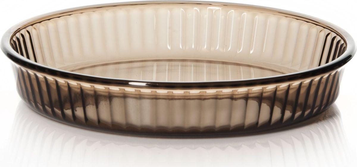 Форма для запекания Pasabahce, цвет: коричневый, диамтер 26 см. 59044BR59044BRПосуда для СВЧ форма круглая б/крышки 260 мм коричн.