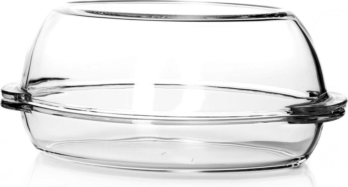 Утятница для СВЧ Pasabahce, с крышкой, 1,7 л. 5905259052Посуда для СВЧ овальная 1,7л + крышка 2,5л (утятница) 35*19*15 см