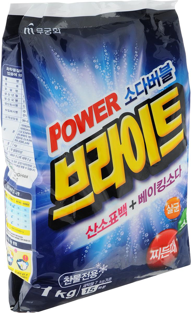 Стиральный порошок Mukunghwa Power Bright, 1 кг8801173500531Бесфосфатный стиральный порошок, разработанный для удаления пятен даже в холодной воде. Подходит для всех типов стиральных машин и ручной стирки. Он быстро и без остатка растворяется, бережно удаляет частицы грязи и обеспечивает исключительные результаты стирки. Безопасный кислородный отбеливатель сохраняет яркость цветных тканей и естественную белизну белого белья. Кроме того, Power Bright эффективно борется с микробами.