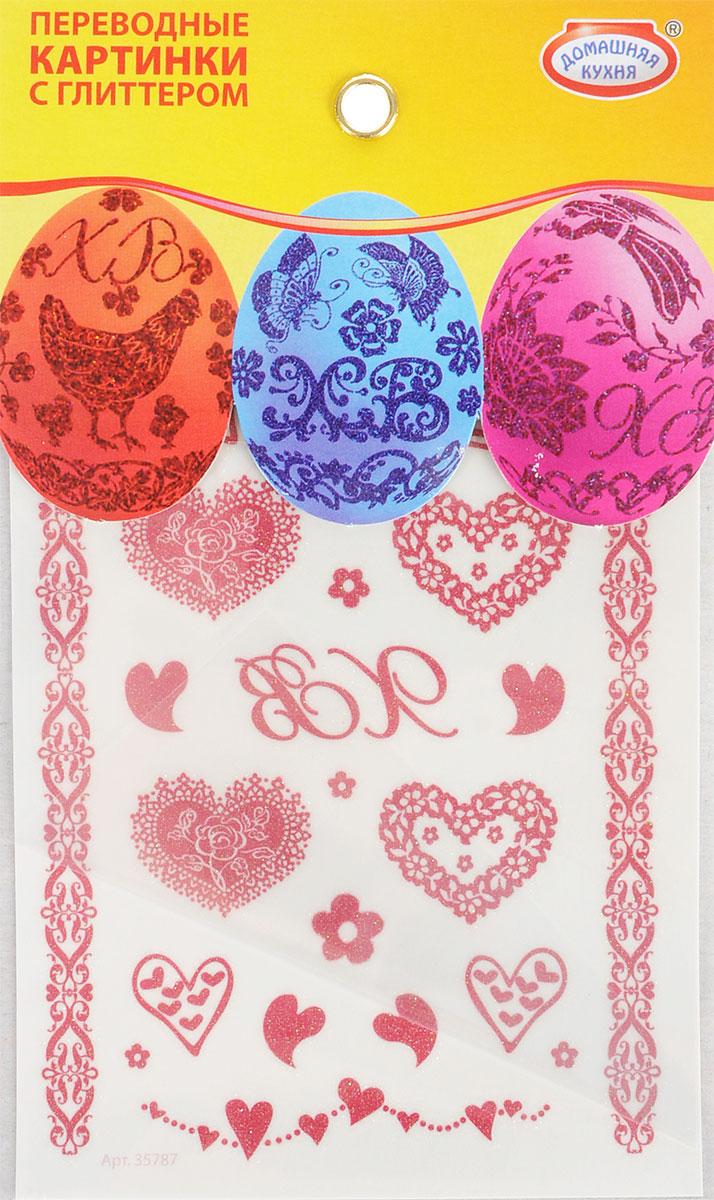 Наклейки для пасхальных яиц Домашняя кухня Глиттер. Ассорти, переводные, 26 штhk39167/1Набор декоративных наклеек Домашняя кухня Глиттер. Ассорти, выполненный из ПВХ и бумаги, предназначен для украшения пасхальных яиц. В набор входит 26 наклеек. Наклейки являются переводными, инструкция по наклеиванию прилагается. Размер листа: 13 х 8,5 см.