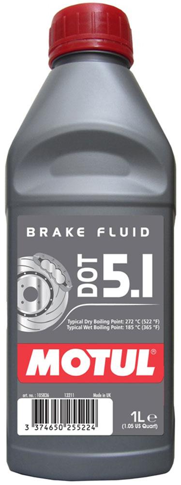 Жидкость тормозная Motul DOT 5.1 BF, 1 л105836Жидкость длительного использования для гидравлических тормозных приводов и сцеплений. 100% синтетика, DOT 5.1 (без силикона). Для всех систем гидравлических тормозных приводов и сцеплений, в которых рекомендовано применение жидкостей DOT 3, DOT 4, DOT 5.1. Жидкость специально разработана для работы с антиблокировочной системой тормозов (ABS). Одобрения: FMVSS 116 DOT 5.1 NON SILICONE BASE, DOT 4 et DOT 3; SAE J 1703; ISO 4925 (5.1, 4 et 3)